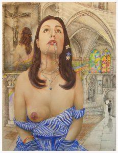 LANNONCIATION DE MARIELLE, dessin de Jean Pierre Rémaut
