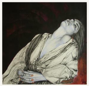 La jeune fille à la perle , dessin de Jean Pierre Rémaut
