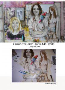 DETAIL FAMILLE Clarisse, dessin de Jean Pierre Rémaut