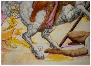 Héliodore détail 2, dessin de Jean Pierre Rémaut