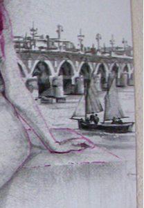Luisia détail, dessin de Jean Pierre Rémaut