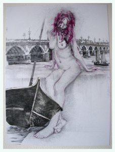 Luisia portrait, dessin de Jean Pierre Rémaut